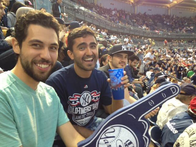 Residents cheer on the Yankees with EHS Student Life