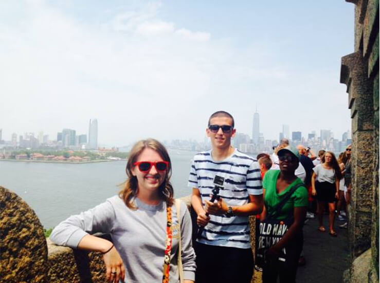 EHS Residents on a Student Life trip to the Statue of Liberty